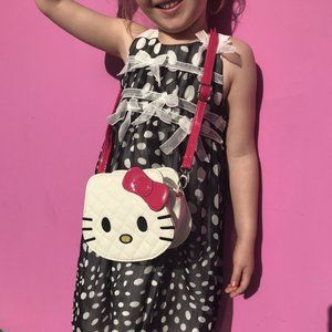 Hello Kitty White Faux Patent Leather Girls Bag